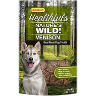 Ruffin' It Healthfuls Nature's Wild! Venison Dog Treats, 4-oz bag