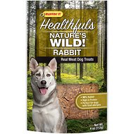 Ruffin' It Healthfuls Nature's Wild! Rabbit Dog Treats, 4-oz bag
