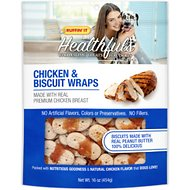 Ruffin' It Healthfuls Chicken & Peanut Butter Biscuit Wraps Dog Treats, 16-oz bag