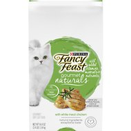 Fancy Feast Gourmet Naturals White Meat Chicken Dry Cat Food, 3.4-lb bag