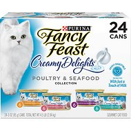 Fancy Feast Creamy Delights Variety Pack Canned Cat Food, 3-oz, case of 24