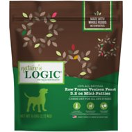 Nature's Logic Venison Feast Patties Raw Frozen Dog Food, 3.2-oz patty, 6-lb bag