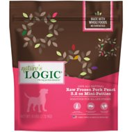 Nature's Logic Pork Feast Patties Raw Frozen Dog Food, 3.2-oz patty, 6-lb bag
