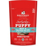 Stella & Chewy's Perfectly Puppy Beef & Salmon Dinner Patties Grain-Free Freeze-Dried Dog Food, 14-oz bag