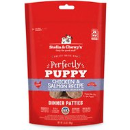 Stella & Chewy's Perfectly Puppy Chicken & Salmon Dinner Patties Grain-Free Freeze-Dried Dog Food, 5.5-oz bag