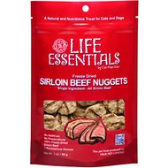 Life Essentials Sirloin Beef Nuggets Freeze-Dried Cat & Dog Treats, 3-oz bag