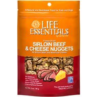 Life Essentials Sirloin Beef & Cheese Nuggets Freeze-Dried Cat & Dog Treats, 3-oz bag