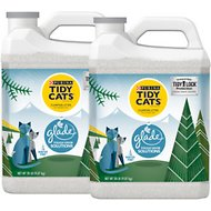 Tidy Cats Tough Odor Solutions Glade Winter Pine Clumping Cat Litter, 20-lb jug, case of 2