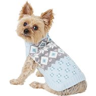 Pup Crew Snowflake Fair Isle Dog & Cat Sweater, Small