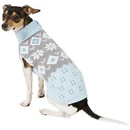 Pup Crew Snowflake Fair Isle Dog & Cat Sweater, Medium