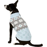 Pup Crew Snowflake Fair Isle Dog & Cat Sweater, X-Large