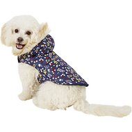 Pup Crew Floral Print Hooded Dog Jacket, Small