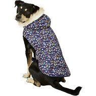 Pup Crew Floral Print Hooded Dog Jacket, X-Large