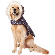 Pup Crew Floral Print Hooded Dog Jacket, XX-Large