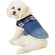 Pup Crew Denim & Plaid Dog Jacket, Small