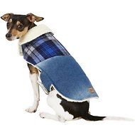 Pup Crew Denim & Plaid Dog Jacket, Medium