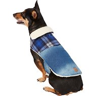 Pup Crew Denim & Plaid Dog Jacket, Large