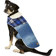 Pup Crew Denim & Plaid Dog Jacket, X-Large