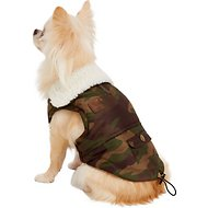 Pup Crew Camo Print Pocket Dog Jacket, XX-Small