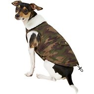 Pup Crew Camo Print Pocket Dog Jacket, Medium
