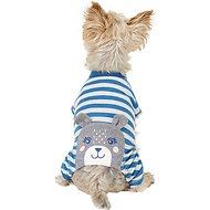 Pup Crew Blue Striped Bear Dog Pajamas, X-Small