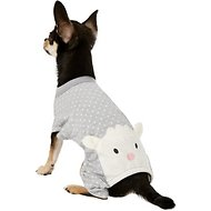 Pup Crew Gray Polka Dot Sheep Dog Pajamas, XX-Small