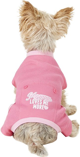 Pup Crew Mommy Loves Me More Dog Pajamas X Small Chewy Com