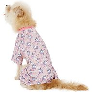 Pup Crew Unicorn Print Dog Pajamas, XX-Small
