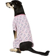 Pup Crew Unicorn Print Dog Pajamas, Large
