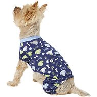 Pup Crew Dog & Bone Print Dog Pajamas, X-Small