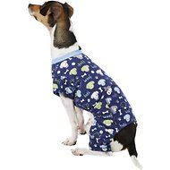 Pup Crew Dog & Bone Print Dog Pajamas, Small