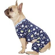 Pup Crew Dog & Bone Print Dog Pajamas, Medium