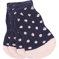 Pup Crew Non-Skid Blue Polka Dot Dog Socks, X-Small/Small