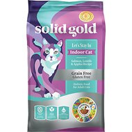 Solid Gold Let's Stay In Indoor Salmon, Lentil & Apple Recipe Adult Grain-Free Dry Cat Food, 12-lb bag