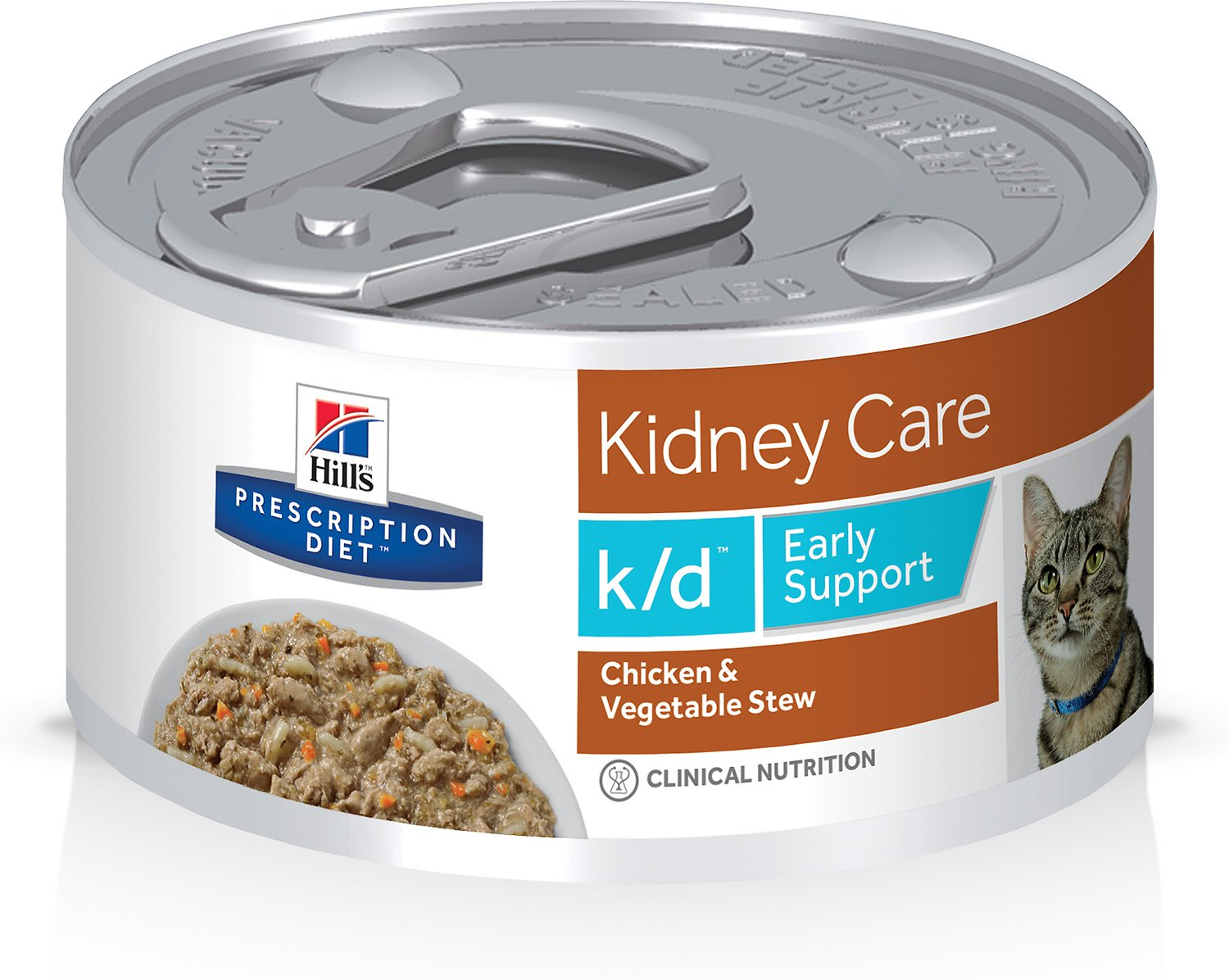 Hill S Prescription Diet K D Early Support Chicken Canned Cat Food 2 9 Oz Case Of 24 Chewy Com