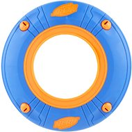 Nerf Dog Atomic Howler Whistling Flyer Disc Dog Toy, Blue/Orange