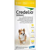 Credelio Chewable Tablet for Dogs, 4.4-6 lbs, 1 tablet