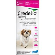 Credelio Chewable Tablet for Dogs, 6.1-12 lbs, 1 tablet