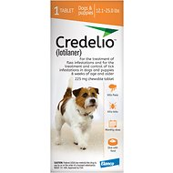 Credelio Chewable Tablet for Dogs, 12.1-25 lbs (Orange Box)