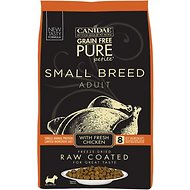 CANIDAE Grain-Free PURE Petite Chicken Formula Small Breed Limited Ingredient Diet Freeze-Dried Raw Coated Dry Dog Food, 10-lb bag