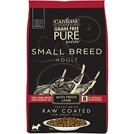CANIDAE Grain-Free PURE Petite Lamb Formula Small Breed Limited Ingredient Diet Freeze-Dried Raw Coated Dry Dog Food, 4-lb bag