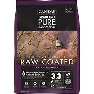 CANIDAE Grain-Free PURE Ancestral Avian Formula Freeze-Dried Raw Coated Dry Dog Food, 4-lb bag
