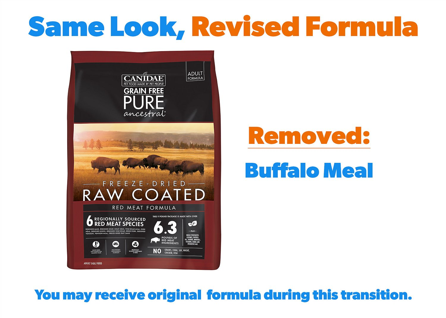 Canidae Grain Free Pure Ancestral Red Meat Formula Freeze