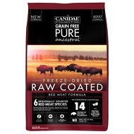 CANIDAE Grain-Free PURE Ancestral Red Meat Formula Freeze-Dried Raw Coated Dry Dog Food, 20-lb bag