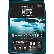 CANIDAE Grain-Free PURE Ancestral Fish Formula Freeze-Dried Raw Coated Dry Dog Food, 4-lb bag