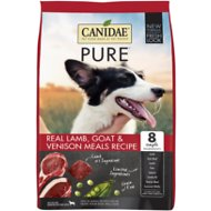 CANIDAE Grain-Free PURE Real Lamb, Goat & Venison Meal Recipe Dry Dog Food, 24-lb bag
