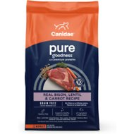 CANIDAE Grain-Free PURE Real Bison, Lentil & Carrot Recipe Dry Dog Food, 4-lb bag