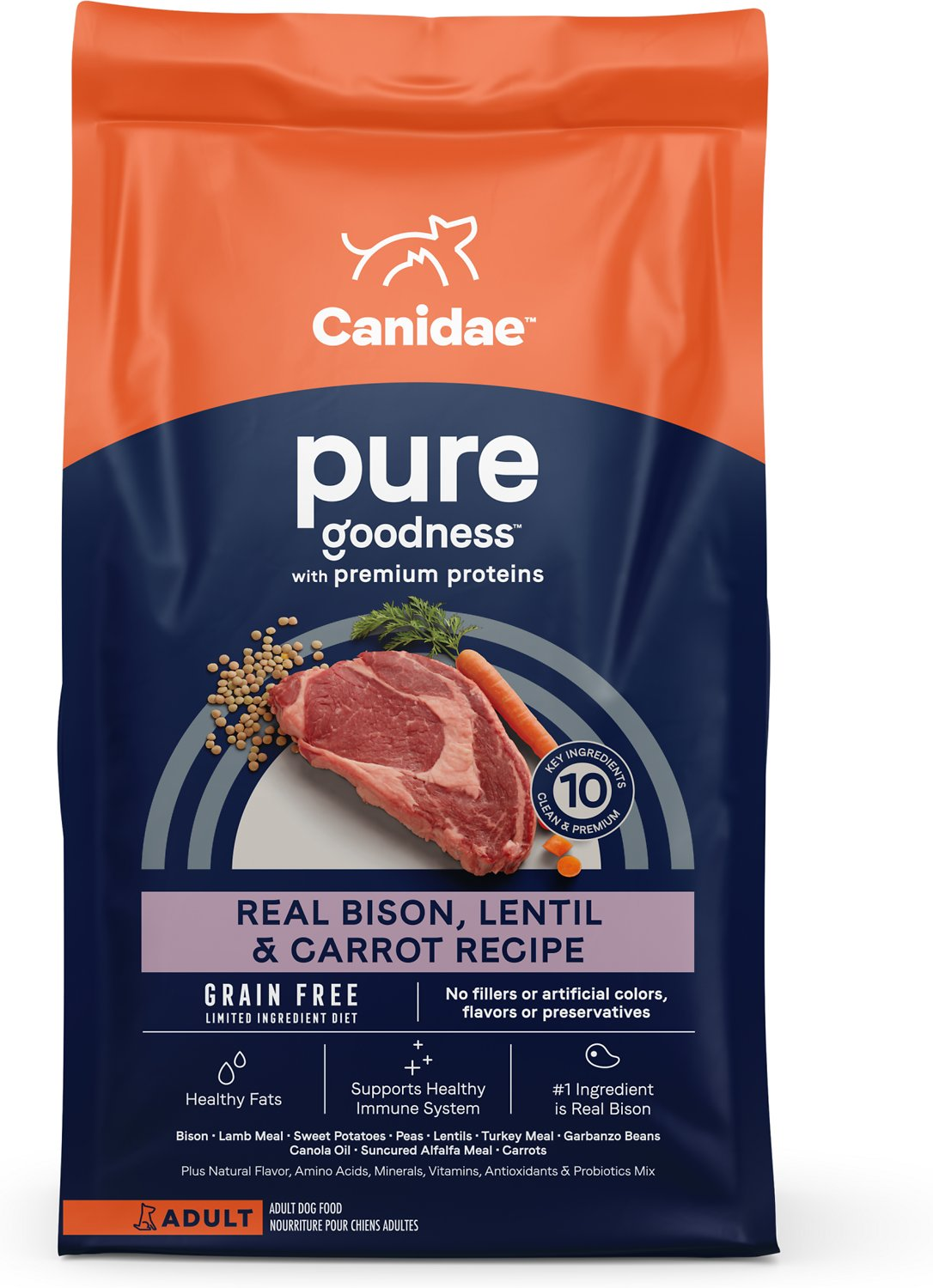 Canidae Grain Free Pure Land With Bison Limited Ingredient Diet