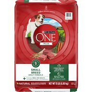 Purina ONE SmartBlend Small Breed Lamb & Rice Formula Dry Dog Food, 15-lb bag