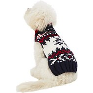 Chilly Dog Navy Vail Dog Sweater, XX-Small